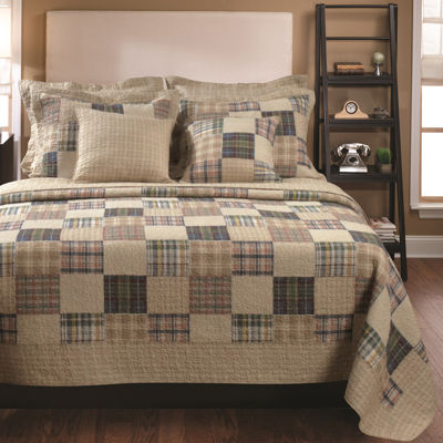 Greenland Home Fashions Oxford Plaid Quilt Set