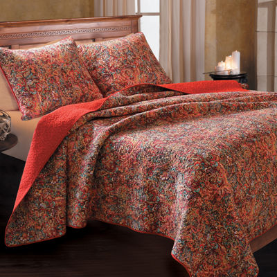 Greenland Home Fashions Persian Botanical Quilt Set