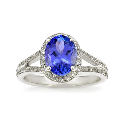 LIMITED QUANTITIES! Purple Tanzanite 14K White Gold Ring