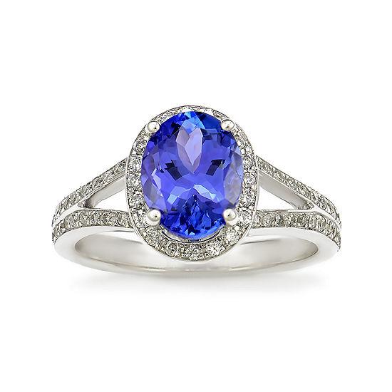 LIMITED QUANTITIES! Purple Tanzanite 14K White Gold Ring