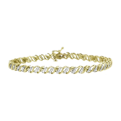 1 CT. T.W. Diamond 10K Yellow Gold Bracelet