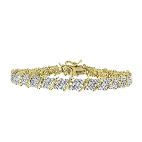 2 CT. T.W. Diamond 10K Yellow And White Gold Bracelet