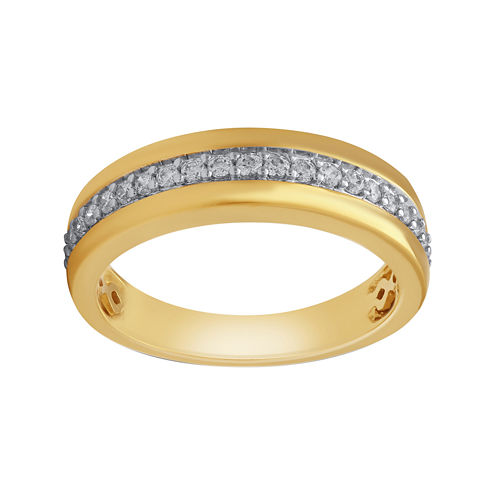 Mens 3/8 CT. T.W. Diamond 10K Yellow Gold Wedding Band