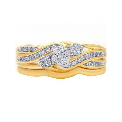 1/4 CT. T.W. Diamond 10k Yellow Gold Bridal Set