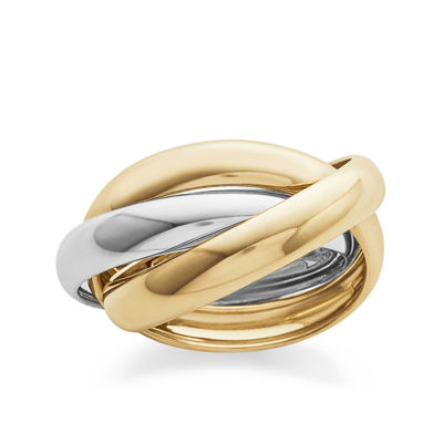 14K Two Tone Gold Triple Rolling Ring