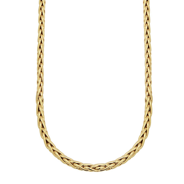 Made in Italy 14K Yellow Gold 140 Gauge Wheat Chain Necklace