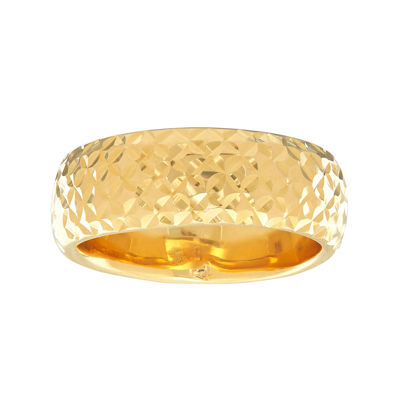 14K Yellow Gold Diamond-Cut Band Ring