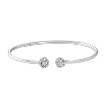 1/10 CT. T.W. Diamond Sterling Silver Flex Bangle Bracelet