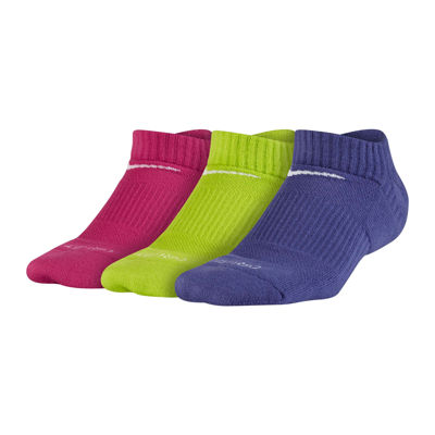 Nike® 3-pk. Dri-FIT No-Show Socks - Girls