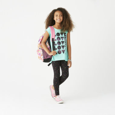 jcpenney.com | Total Girl Printed Leggings or Graphic Tunic - Girls 7-16 and Plus