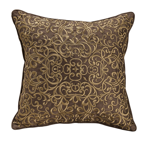 Croscill Classics Royal Red Square Throw Pillow