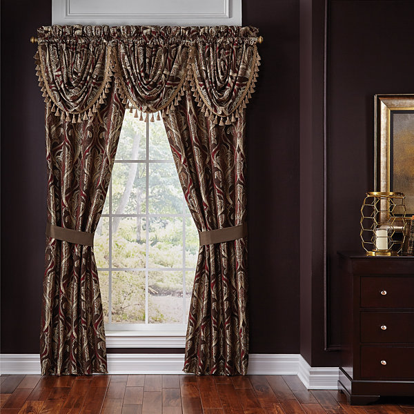 Croscill Classics Royal Red 2-Pack Curtain Panel