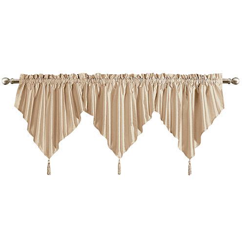 United Curtain Co. Anna Rod-Pocket Ascot Valance