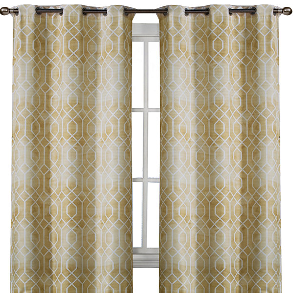 Andreas 2-Pack Printed Grommet-Top Curtain Panels