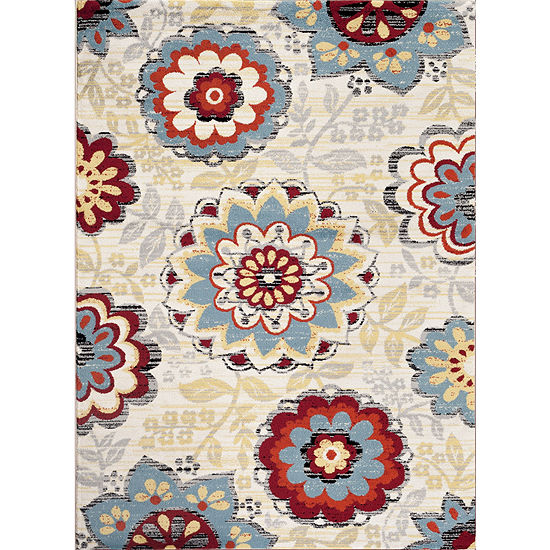 Toscano Floral Rectangle Rug