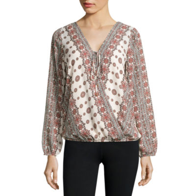 Alyx® Wrap-Front Long-Sleeve Woven Top