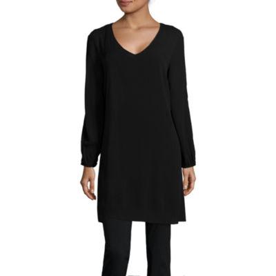 Alyx® Long-Sleeve Crochet-Back Sheath Dress