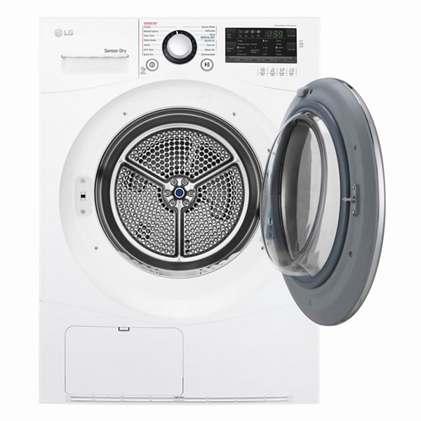 LG 4.2 cu.ft. 24 Electric Dryer with Compact Front LED Display and Ventless Condensing System