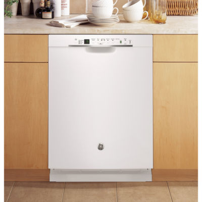 GE® ENERGY STAR® Stainless-Steel Interior Dishwasher with Front Controls