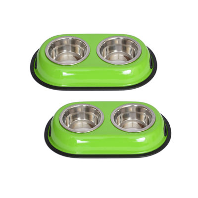 Iconic Pet 1-Cup Color Double-Bowl Diner