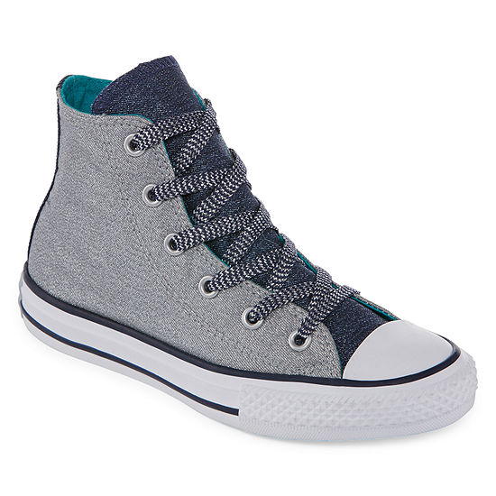 56bc7810f4a1 Converse Chuck Taylor All Star Shine And Shimmer Girls Sneakers - Little  Kids Big Kids - JCPenney