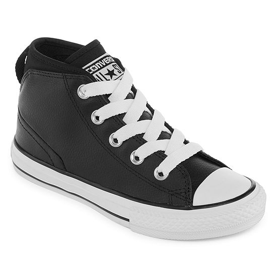 397d1aa58fb Converse Chuck Taylor All Star Syde Street Leather Mid Boys Sneakers -  Little Kids Big Kids - JCPenney