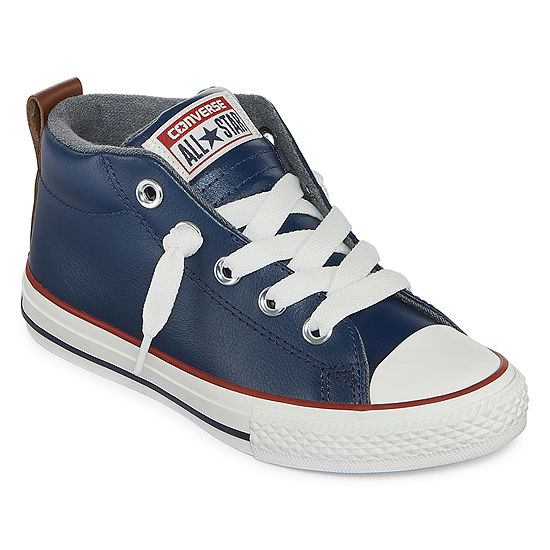 c14466fb39f6 Converse Chuck Taylor All Star Street Leather And Fleece Mid Boys Sneakers  - Little Kids Big Kids - JCPenney