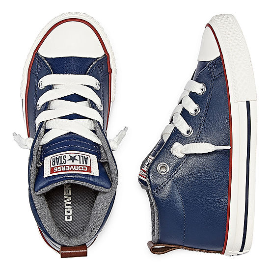 Converse Chuck Taylor All Star Street Leather And Fleece Mid Boys Sneakers Little KidsBig Kids
