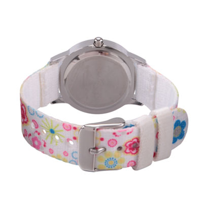 Disney Minnie Mouse Girls White Strap Watch-Wds000163