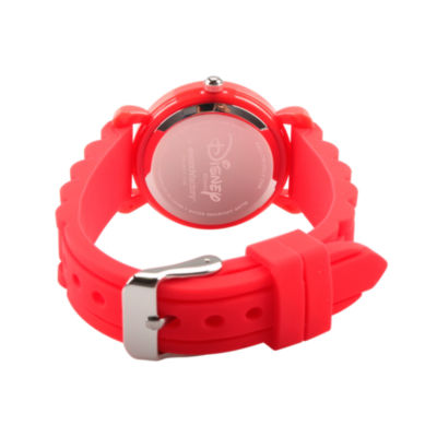 Disney Mickey Mouse Boys Red Strap Watch-Wds000166