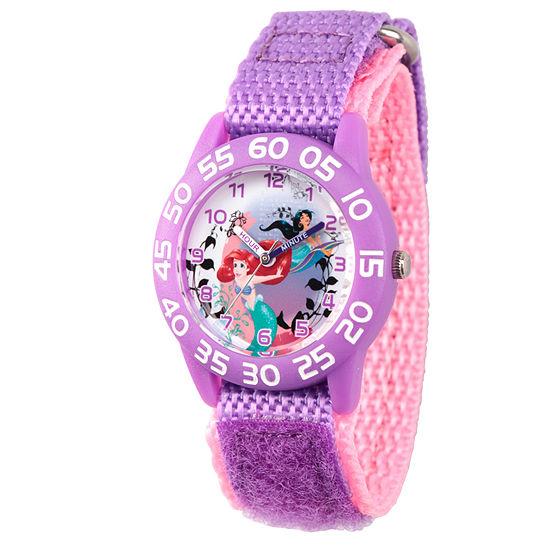 Disney Disney Princess Girls Purple Strap Watch-Wds000170