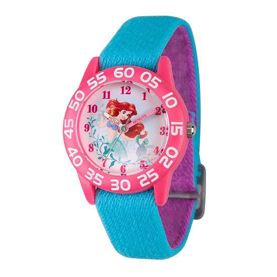 Disney Ariel The Little Mermaid Girls Blue Strap Watch-Wds000171