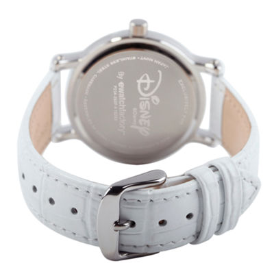Disney Princess Disney Princess Womens White Strap Watch-Wds000179