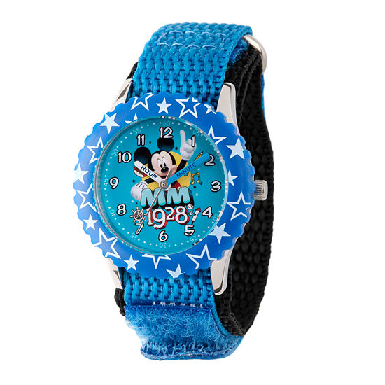 Disney Mickey Mouse Boys Blue Strap Watch-Wds000185