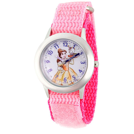 Disney Belle Beauty and the Beast Girls Pink Strap Watch-Wds000187