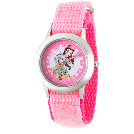 Disney Belle Beauty and the Beast Girls Pink Strap Watch-Wds000188