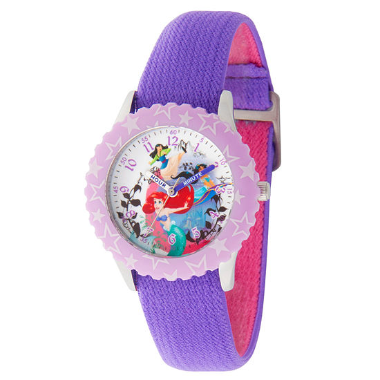 Disney Disney Princess Girls Purple Strap Watch-Wds000200