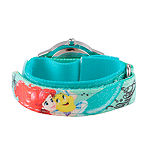 Disney Ariel The Little Mermaid Girls Green Strap Watch-Wds000203