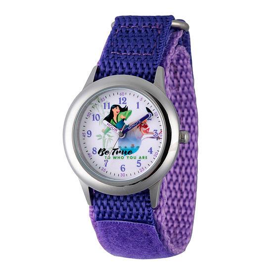 Disney Collection Mulan Disney Princess Girls Purple Strap Watch-Wds000205