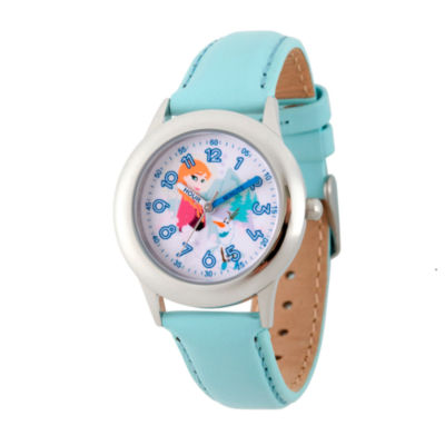 Disney Princess Anna Frozen Girls Blue Strap Watch-Wds000206