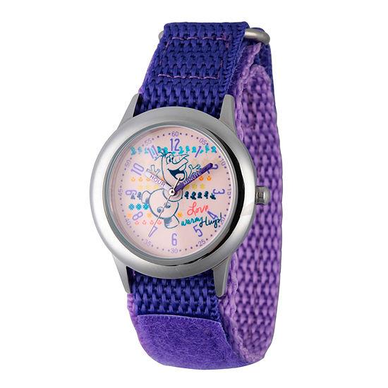 Disney Collection Olaf Frozen Girls Purple Strap Watch-Wds000207