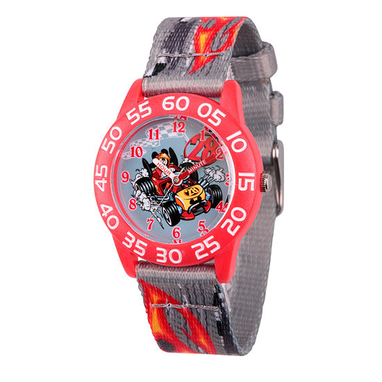 Disney Mickey Mouse Boys Gray Strap Watch-Wds000215
