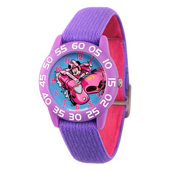 Disney Minnie Mouse Girls Purple Strap Watch Wds000216