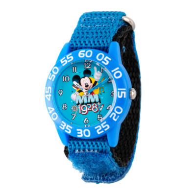 Disney Mickey Mouse Boys Blue Strap Watch-Wds000218