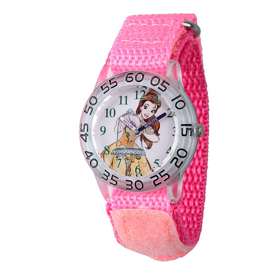 Belle Beauty and the Beast Girls Pink Strap Watch-Wds000221