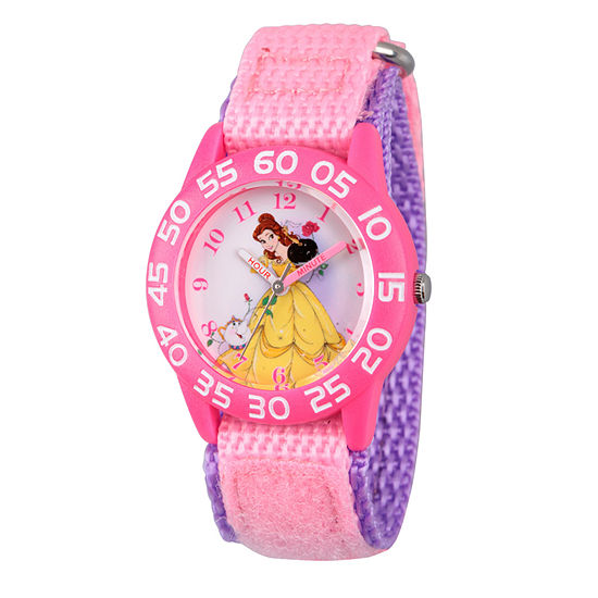 Disney Belle Girls Pink Strap Watch-Wds000223