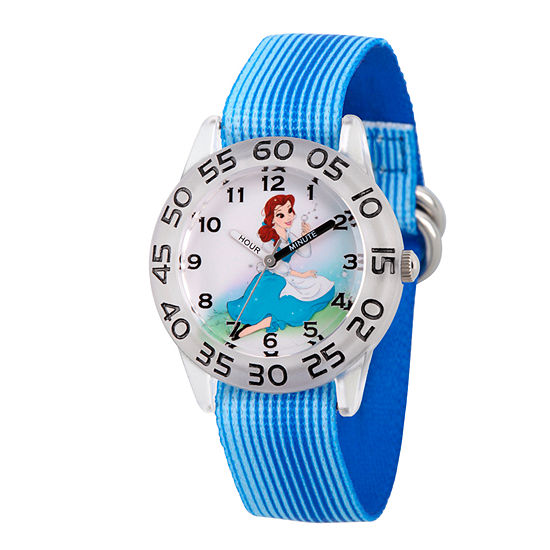 Disney Belle Beauty and the Beast Girls Blue Strap Watch-Wds000225