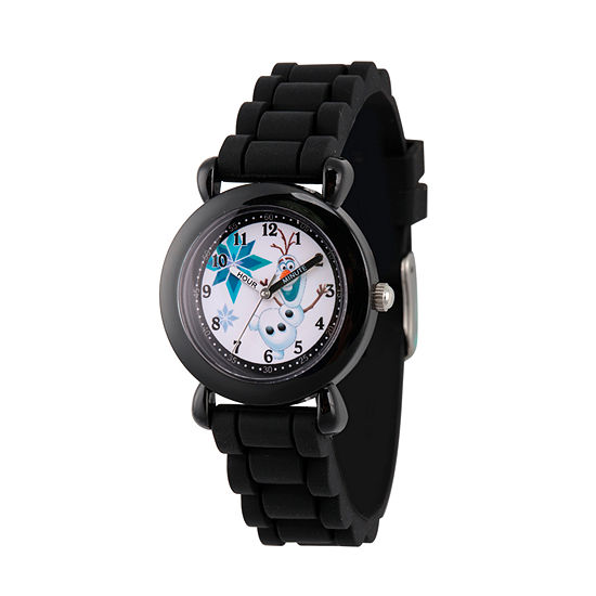 Disney Collection Olaf Frozen Boys Black Strap Watch-Wds000227