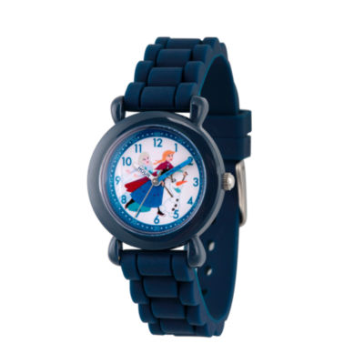 Disney Princess Anna And Elsa Frozen Boys Blue Strap Watch-Wds000228