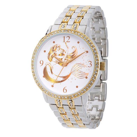 Disney Ariel The Little Mermaid Womens Two Tone Bracelet Watch-Wds000230